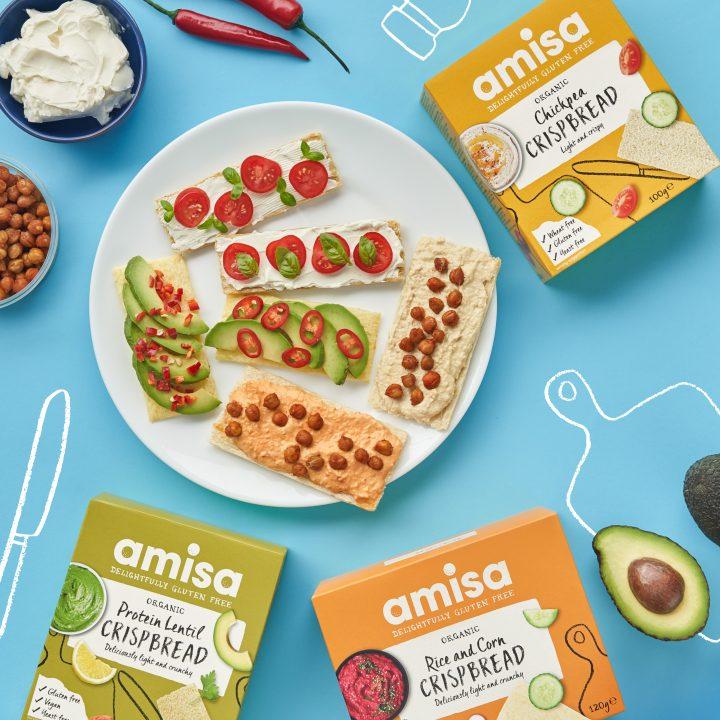 Crispbread range Amisa Organic